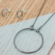 AJ222_studs_circle_necklace_silver_ayana_jewellery