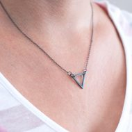 black-triangle-necklace-handmade-silver